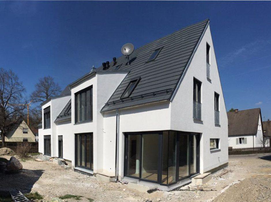 Doppelhaushälfte Sanieren energetische sanierung/dachaufstockung eines siedlerhauses mit anbau